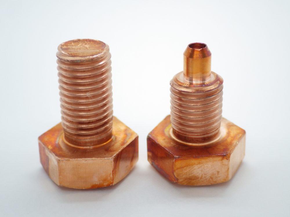 段付きボルトの事例②:段付きボルト(銅ボルト)